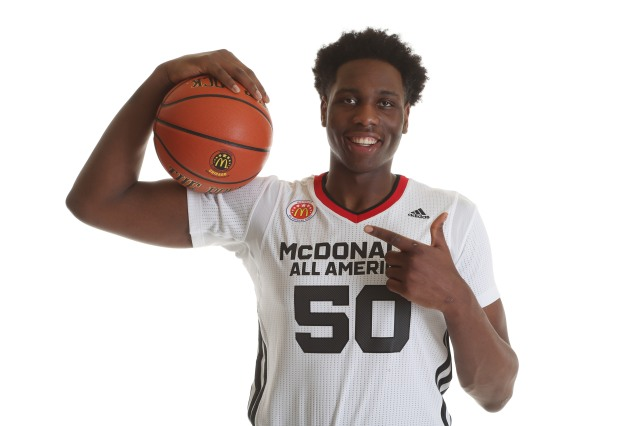 Caleb Swanigan is confident he and the McDonald's AA's could knockoff unbeaten Kentucky. / McDonald's AA