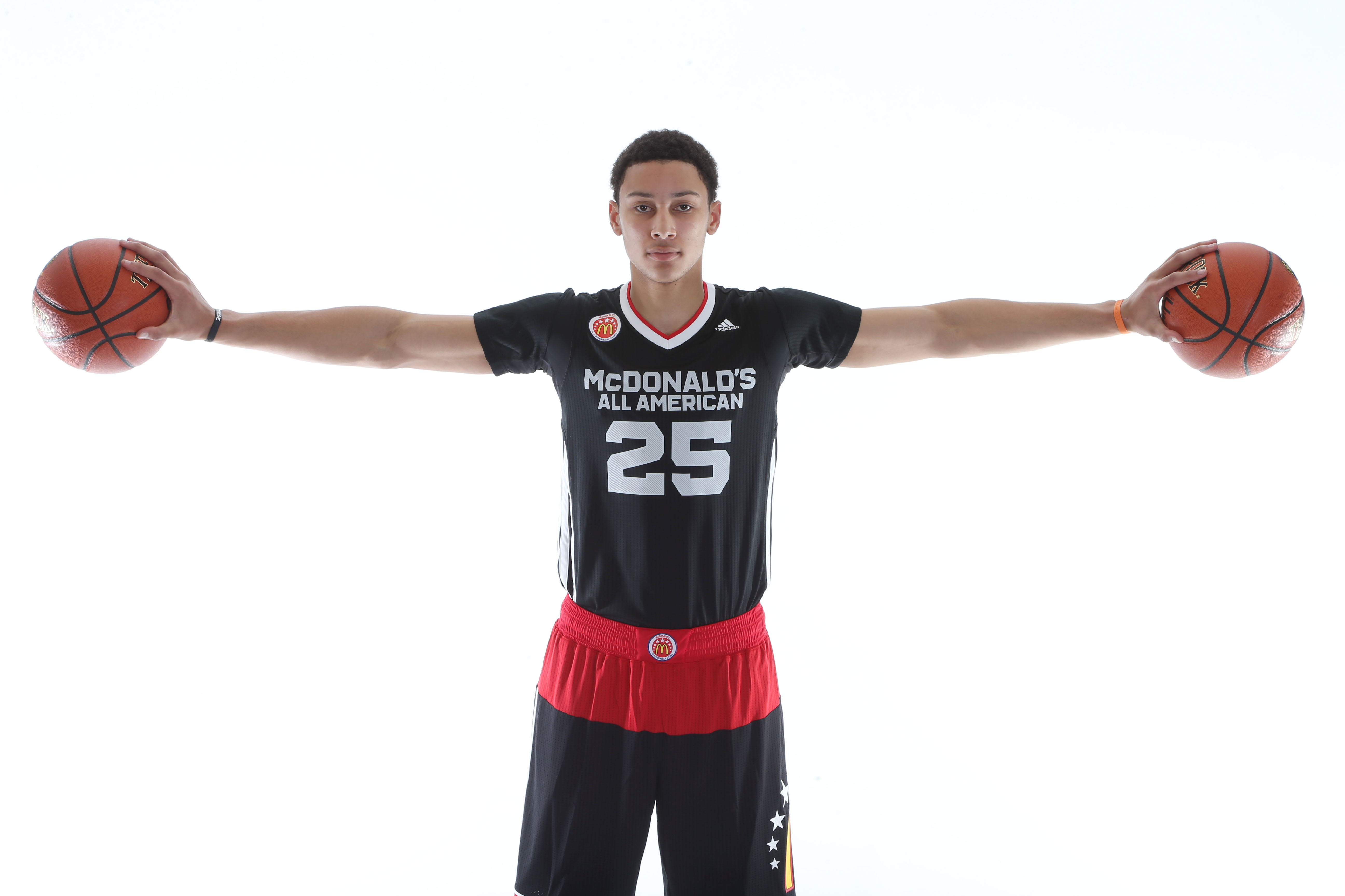 Ben Simmons on photo day at the MdDonald's All American Game (Photo: Brian Spurlock, USA TODAY Sports)