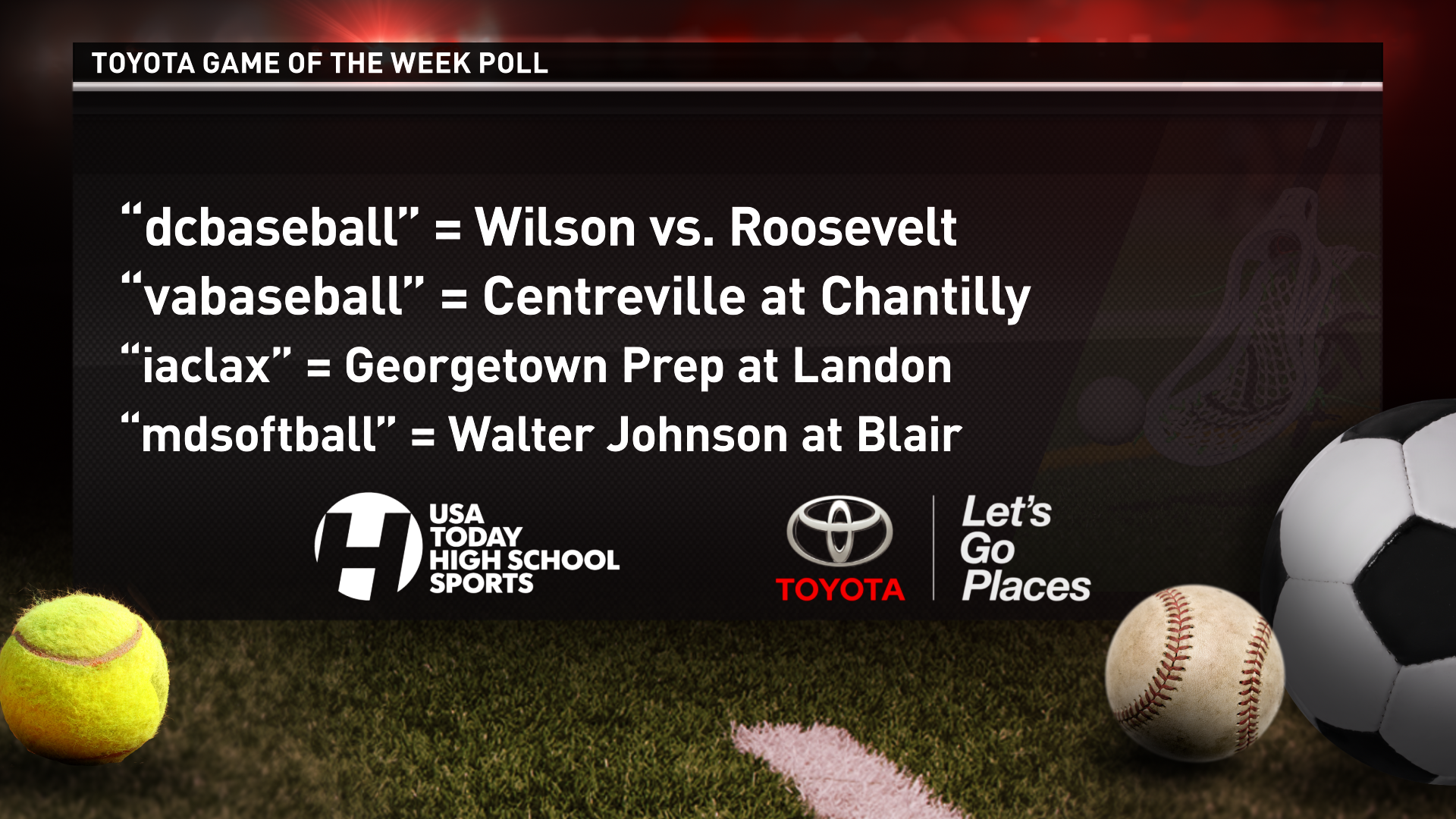 Which match-up do you want to see featured on WUSA9 this Friday?