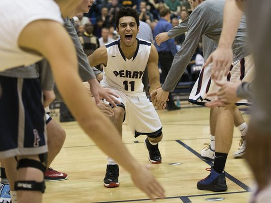 Perry High guard Markus Howard is introduced before playing against Corona del Sol High in Gilbert Feb. 2, 2015. (Photo: Michael Chow/azcentral sports)