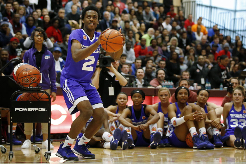 Oak Ridge (Orlando) guard Antonio Blakeney, who is headed to LSU, is one of the quicker players at the Jordan Brand Classic.