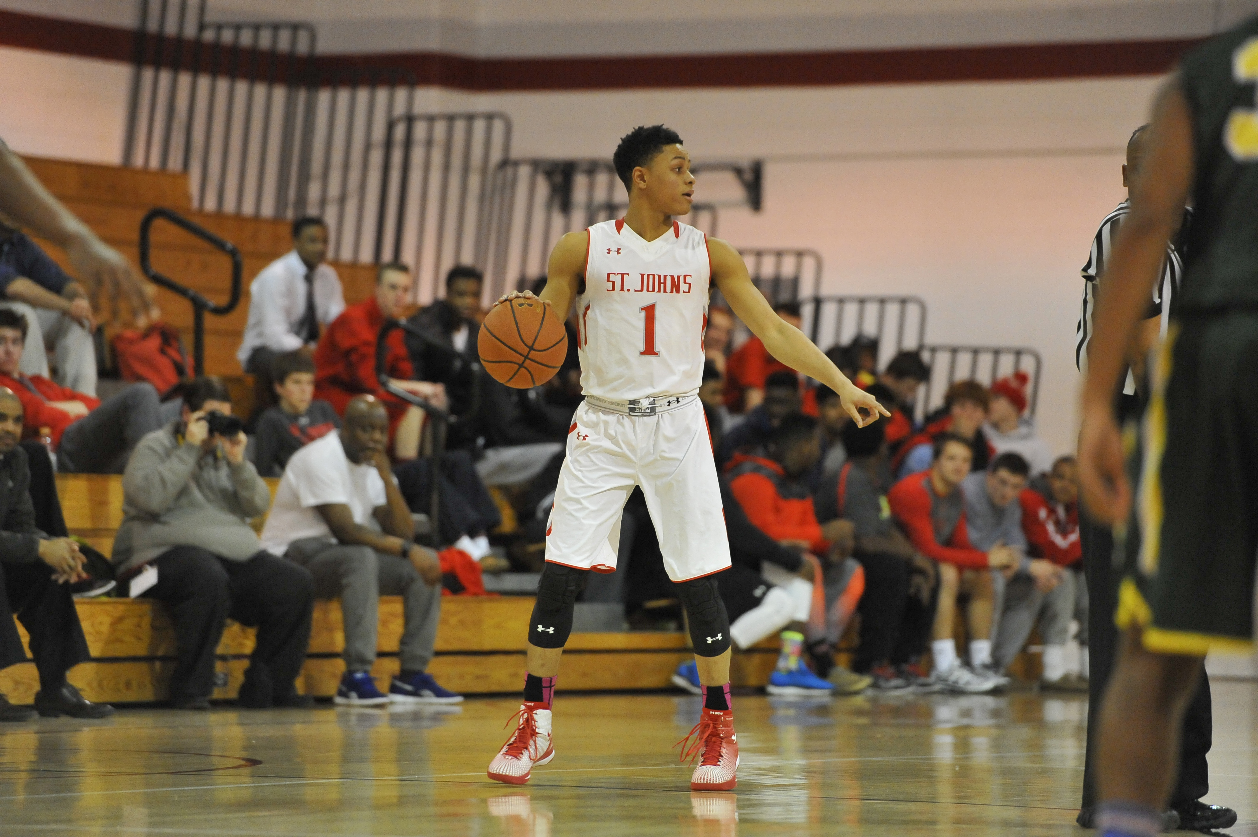 DC boys POY Anthony Cowan credit Larry French, St. John's  College High School