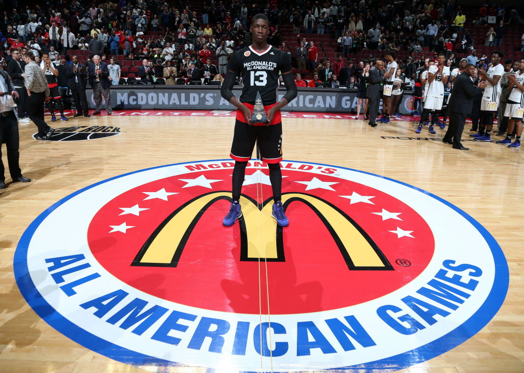 Our Savior New American big man Cheick Diallo took home the McDonald's All American MVP trophy.  (Photo: Brian Spurlock, USA TODAY Sports)
