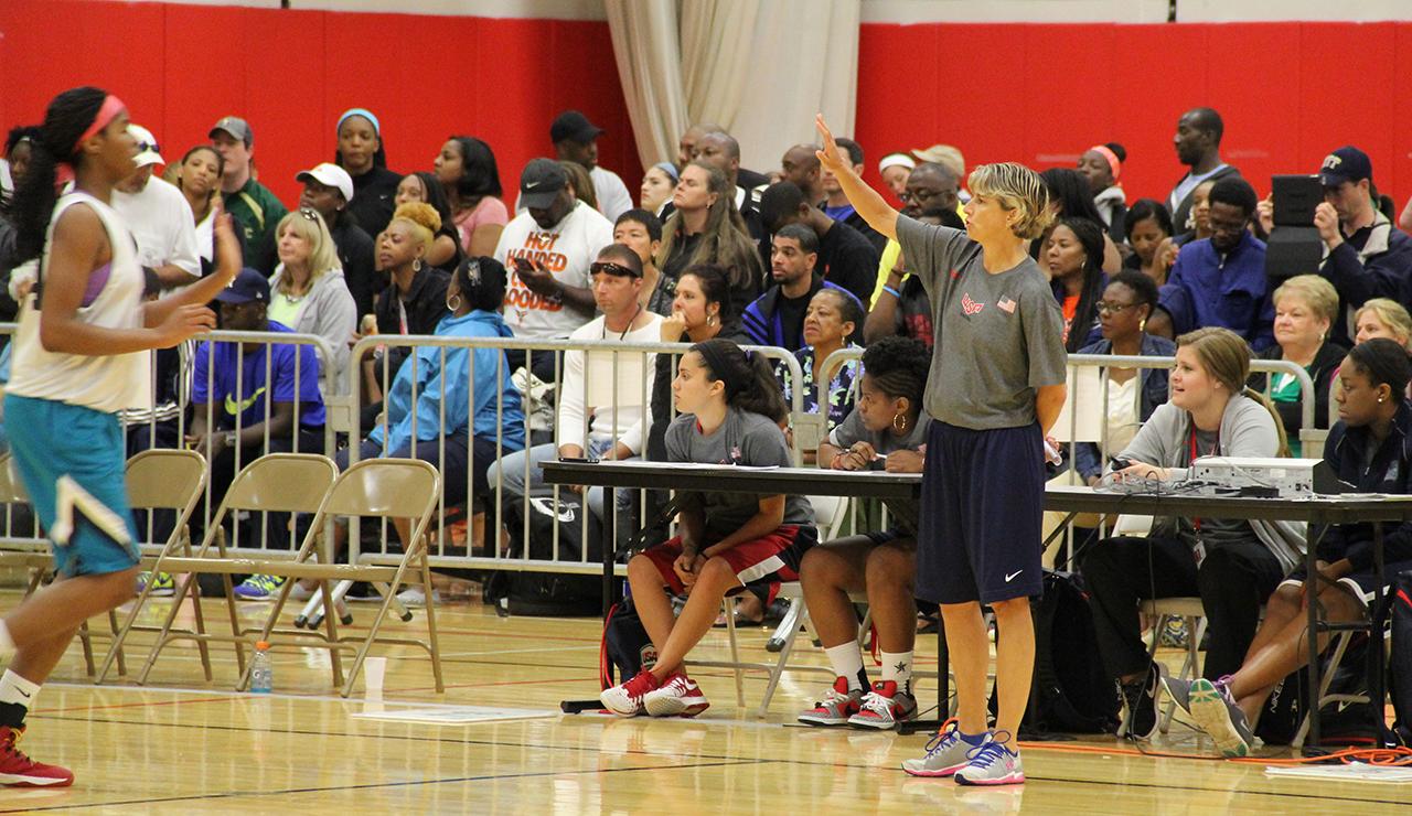 USA Basketball Women's U16 National Team coach Dori Oldaker. (Photo: USA Basketball)