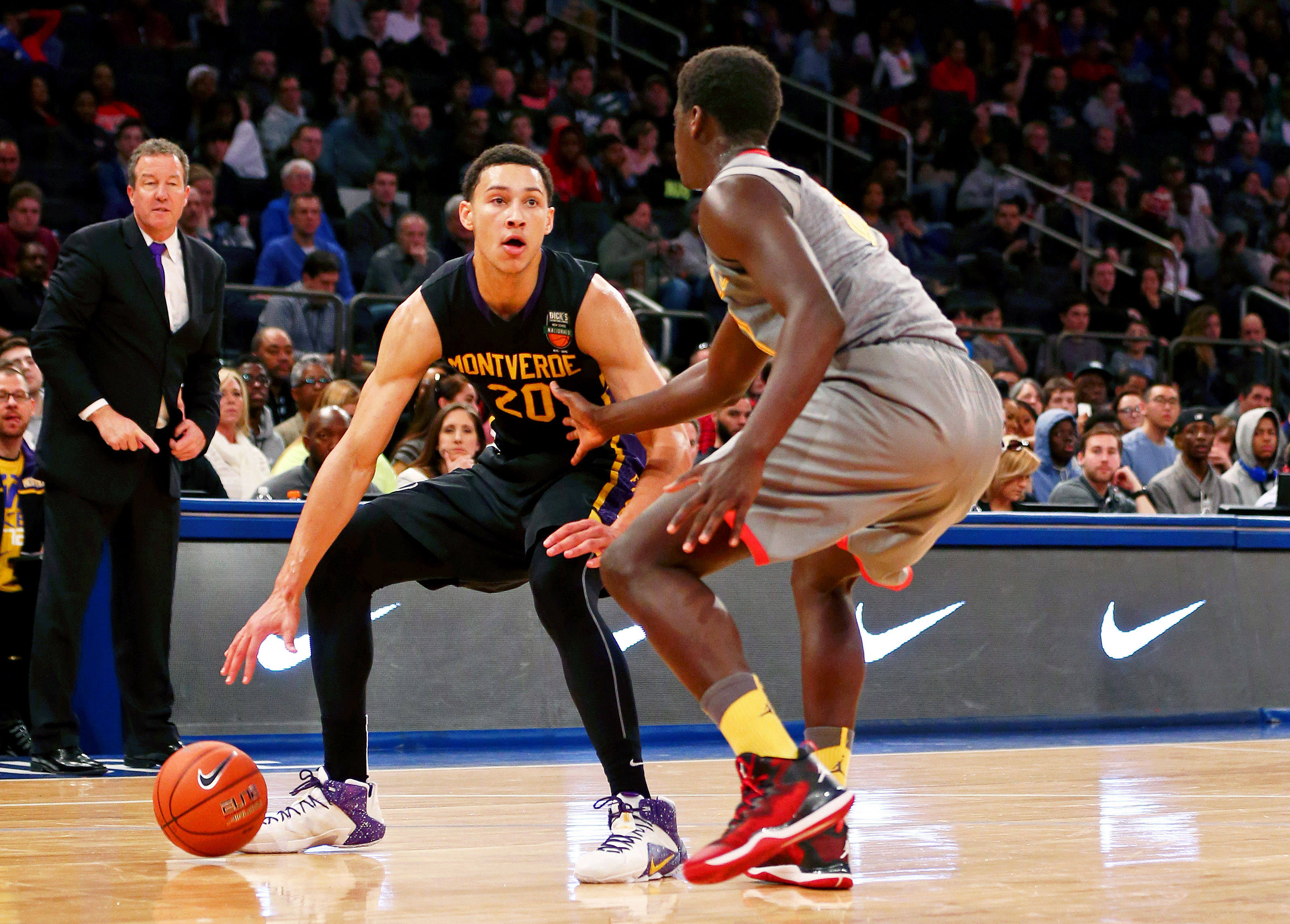 Ben Simmons was named MVP of the DICK'S Nationals although he was hampered by an eye injury. (Photo: Andy Marlin, USA TODAY Sports)