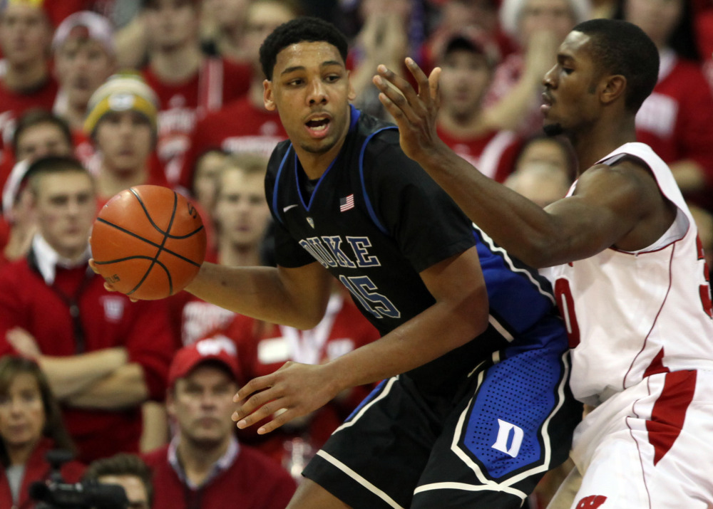 Luke Kennard said Jahlil Okafor (right) is in for a big night in tonight's national title game. / USA Today Sports