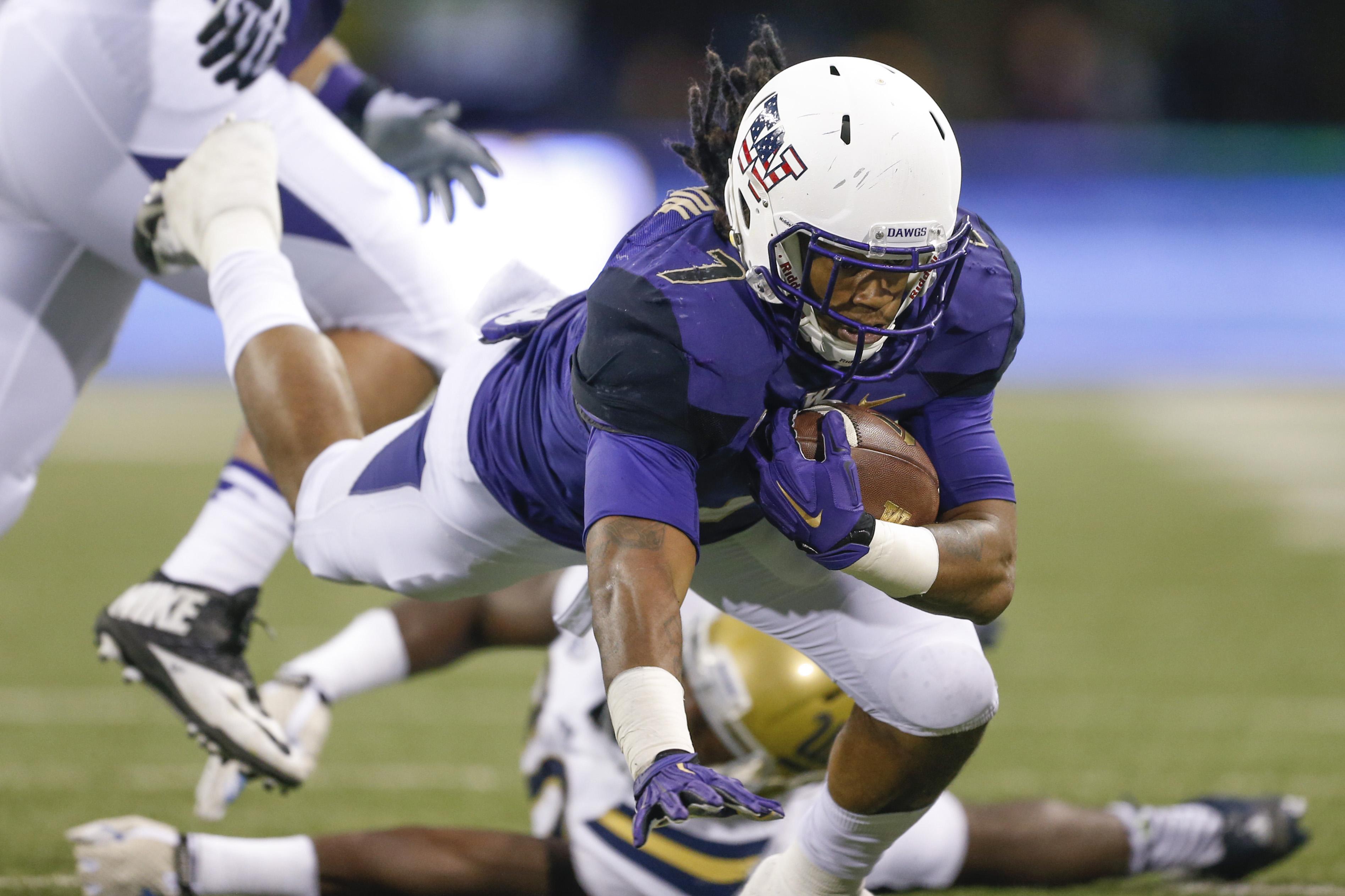 Shaq Thompson also ran the ball for Washington but is projected as a linebacker (Photo: joe Nicholson, USA TODAY Sports)