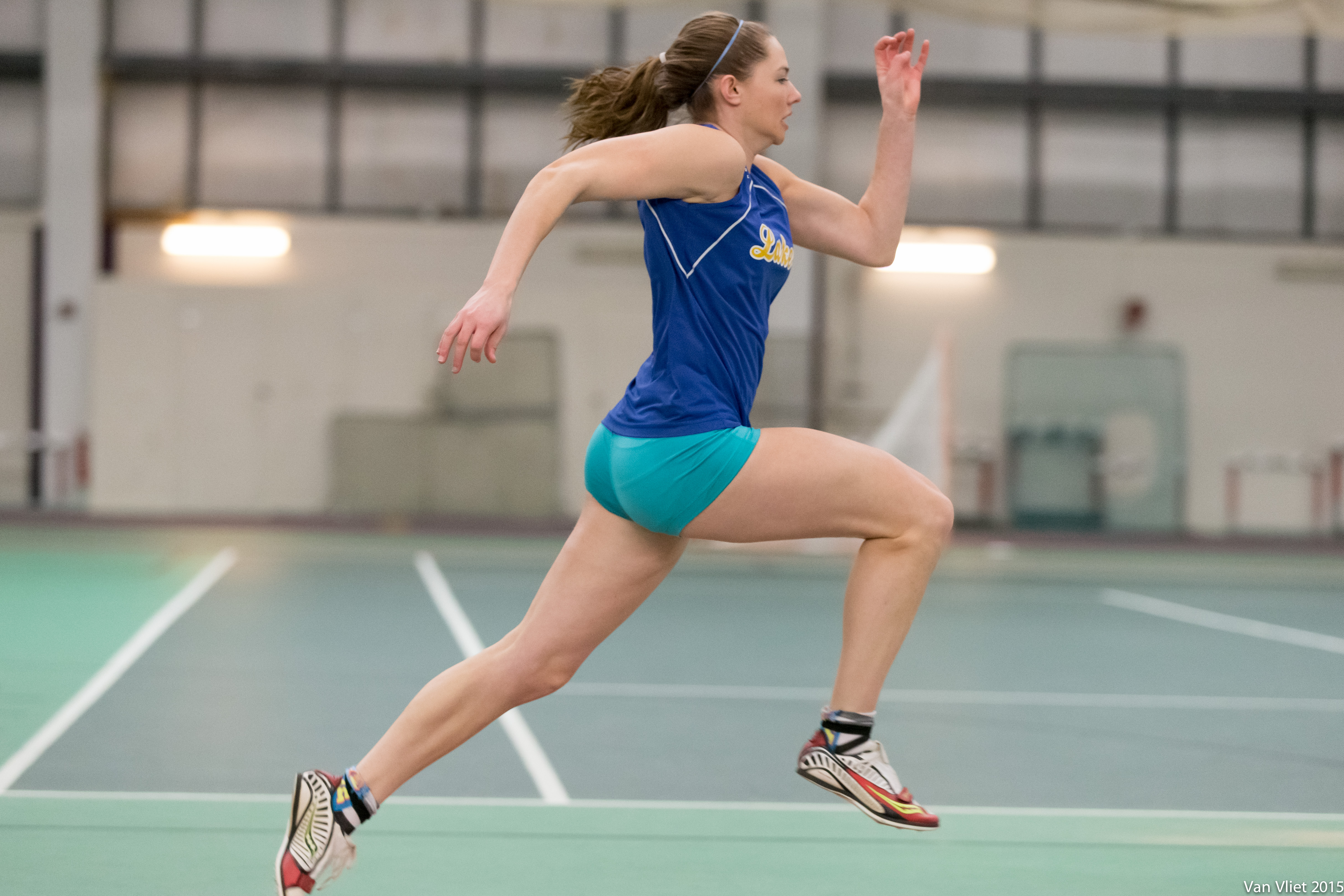 Kate Hall is the Maine recordholder in the 100, 200 and long jump (Photo: Erick Sandoval)