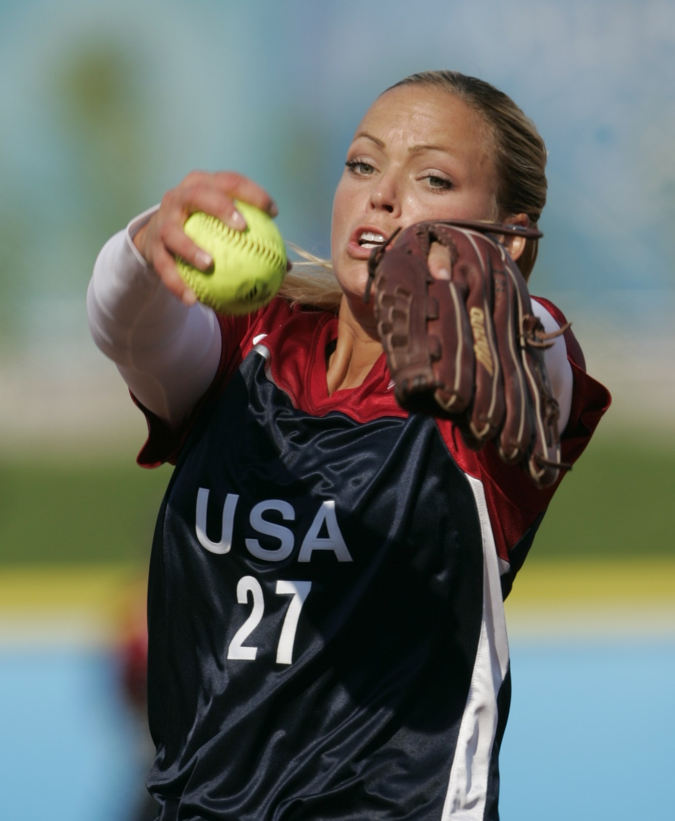 Jennie Finch helped pitched the U.S. team to a gold medal at the 2004 Olympics in Athens. (Photo: Darr Beiser, USA TODAY)