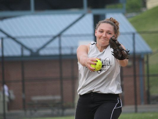 Roger Bacon junior Ashton Lindner fires a pitch against Winton Woods on May 6. Lindner threw a no-hitter on May 13, the same night Roger Bacon baseball player Jeordon Kuderer also threw a no-hitter. (Photo: Adam Baum/Community Press)