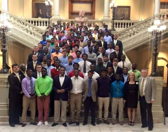 Colquitt County was honored at the state legislature after winning the AAAAAA state title. Facebook photo.