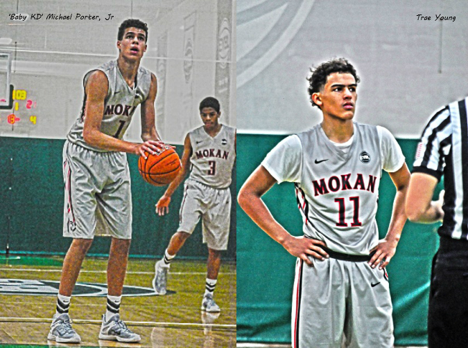 Top 2017 hoopers Michael Porter Jr. (left) and Trae Young (right) are the country's newest package deal.