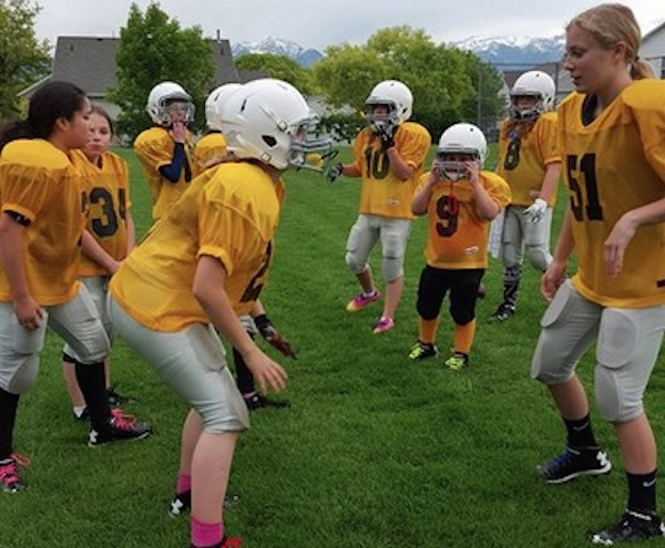 The Utah Girls Tackle Football League is an all-girls youth football league for girls between fifth and eighth grade —Facebook