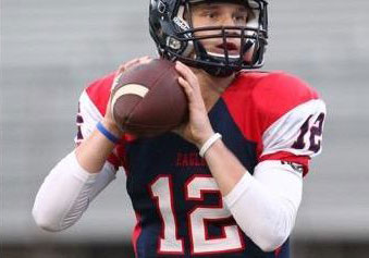Mitchell Jonke threw for a touchdown and ran for a touchdown in a scrimmage Friday for Allen, Texas. (Photo: Twitter).