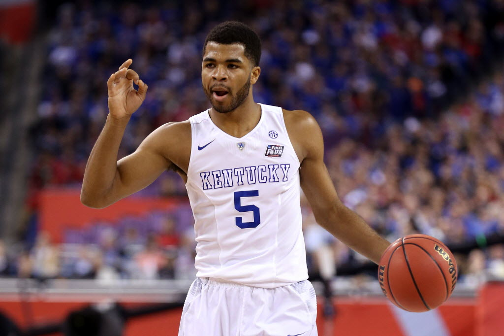 Kentucky Wildcats guard Andrew Harrison. (Photo by Streeter Lecka, Getty Images)
