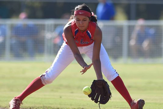 Hailey Lunderman fields a ball at shortstop for Neshoba Central against West Harrison in the MHSAA Class 5-6A slow pitch softball state championship on Saturday, October 25, 2014, at Freedom Ridge Park in Ridgeland. (Photo: CHRIS TODD)
