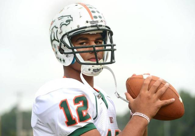 East Lincoln quarterback Chazz Surratt flipped his commitment from Duke to North Carolina after both he and his brother were offered preferred walk-on spots on the UNC basketball team — Twitter