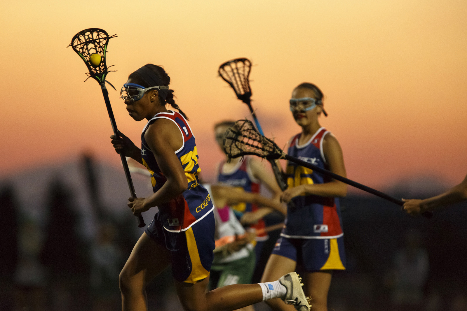 Jersey#29 - 3d Lacrosse Player Olivia Proctor at Sunset