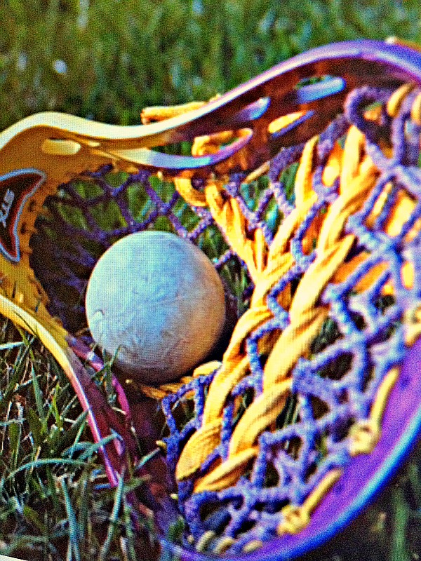 Lacrosse Purple Yellow Stick