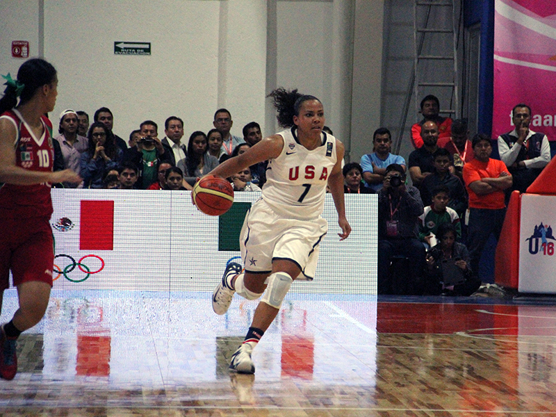 Destiny Littleton led the Americans with 17 points and 7 rebounds in a semifinal win (Photo: USA Basketball)