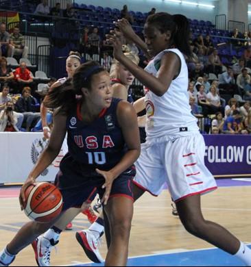 Napheesa Collier had a double-double for Team USA Photo: USA Basketball