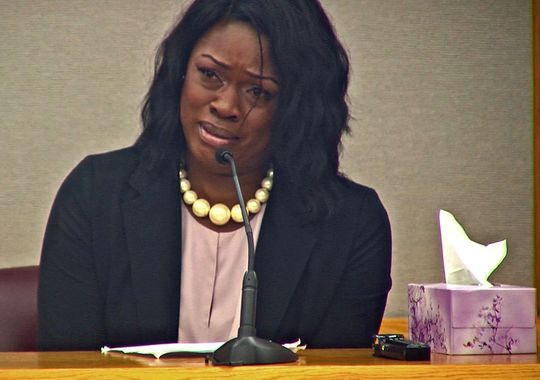 Tammy Simpson addresses Johnathan Turner, the man who confessed to killing her son, Troy Causey. (Photo: WFAA)