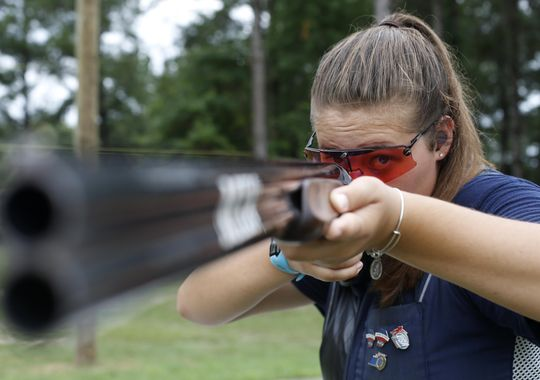 Abby Blakeley travels from her home in Tallahassee to the Bridge Creek Clays South Georgia Youth Shooting Club as many as four times a week to practice on the clay pigeon range there, a 140-mile round trip. (Photo: Joe Rondone/ Tallahassee Democrat)