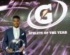 Kyler Murray, from Allen, Texas, holds his trophy after being named the 2015 Gatorade Male Athlete of the Year (Photo: Gatorade, Susan Goldman)