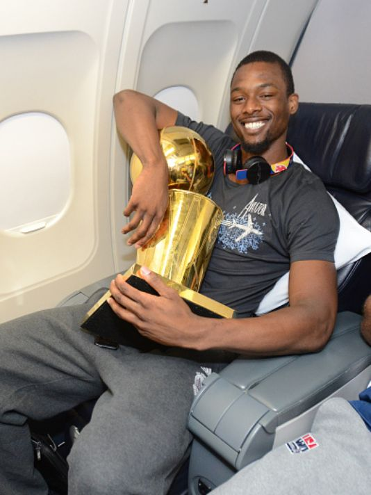 Ames native and Golden State Warrior Harrison Barnes is coming home, and he's bringing the most coveted prize in all of professional basketball. (Photo: Noah Graham, Getty)