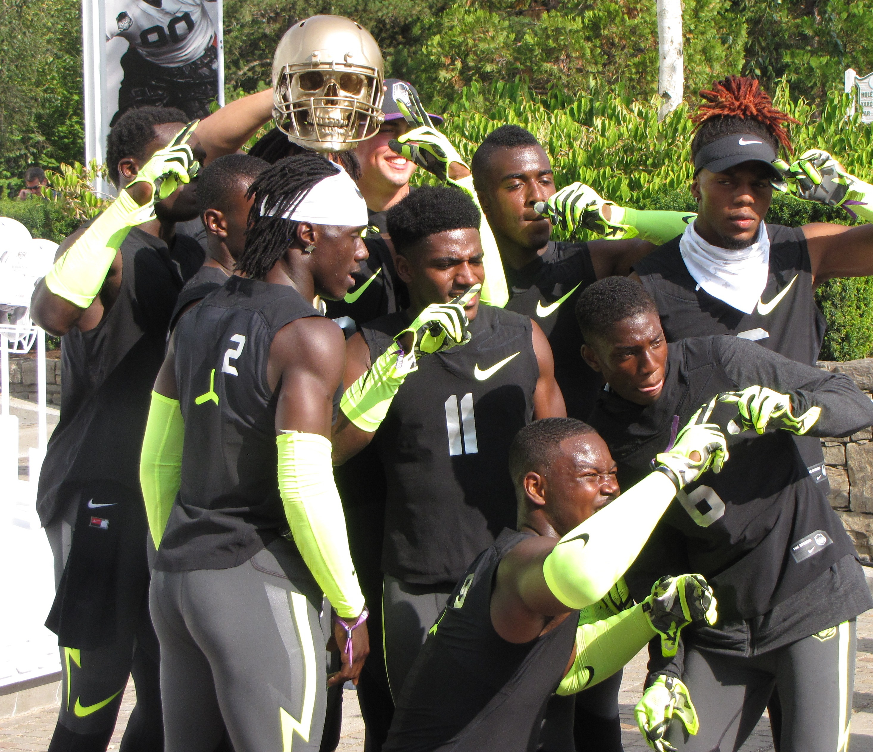 Team Lunarbeast players celebrate after winning the 7 on 7 at The Opening on Friday. (Photo: Jim Halley, USA TODAY Sports)