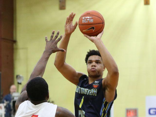 Huntington Prep's Miles Bridges picks the Spartans. (Photo: Detroit Free Press)