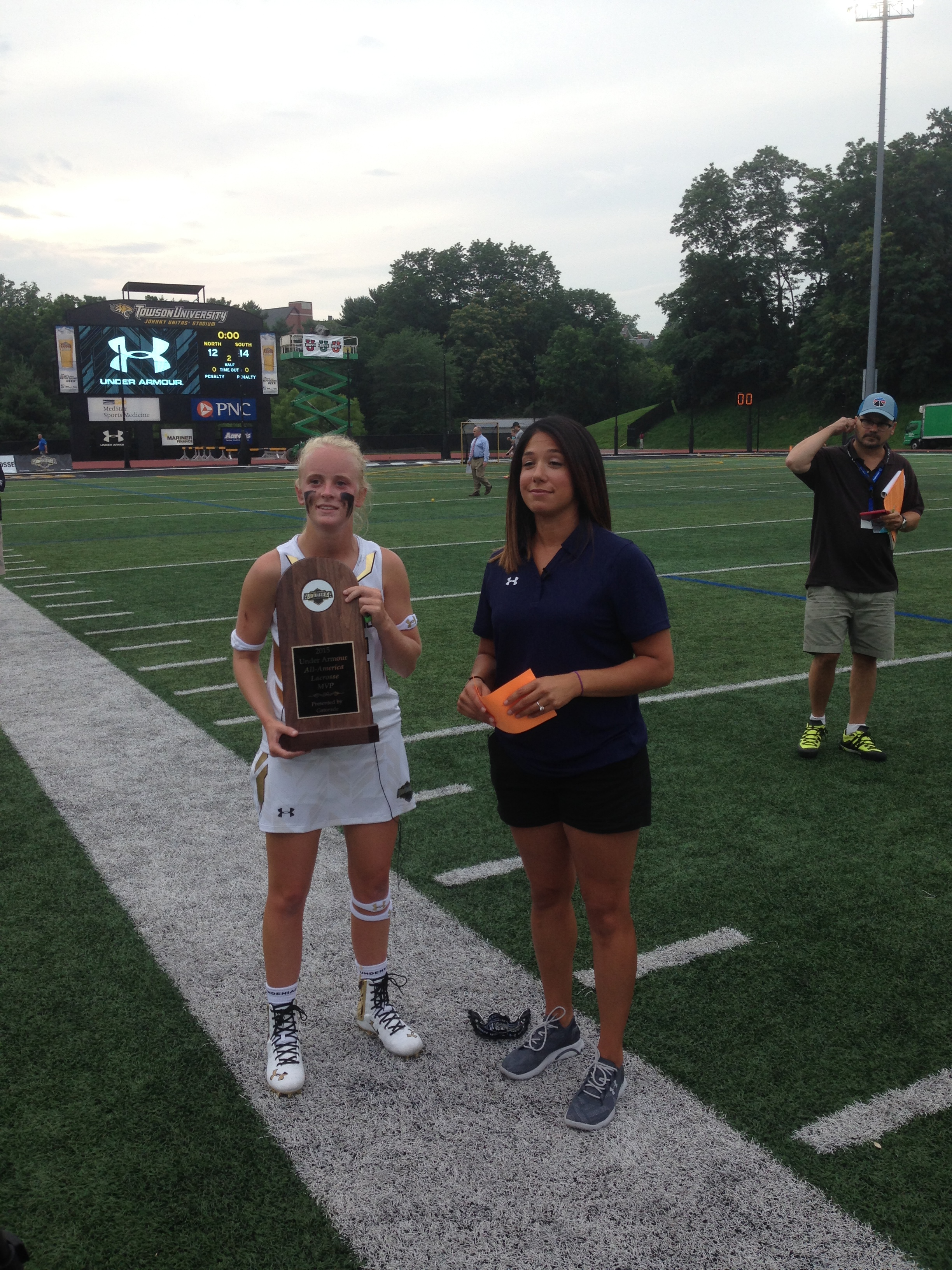 Caroline Steele won MVP honors after tallying one goal and four assists in Friday's All-America game. (Photo: Matt Schneidman)