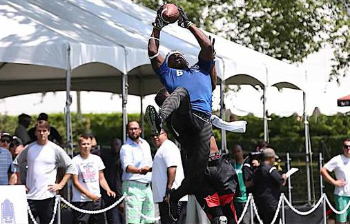Sam Bruce starred this summer at a number of event. (Photo: Twitter).