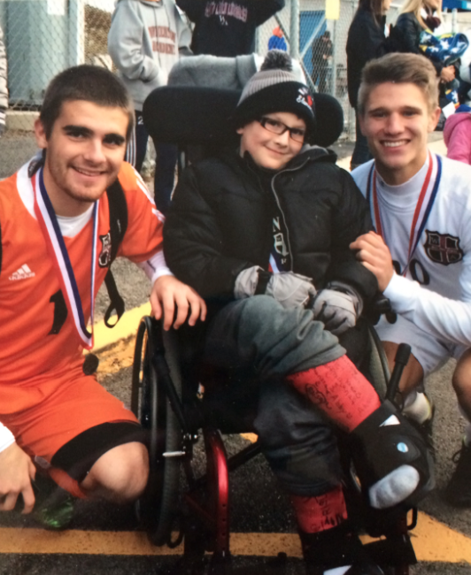 Matthew Atlas with Drew Sezonov (left) and Seager. (Photo: Scott Atlas)