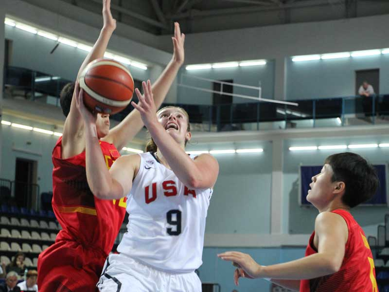 The U.S.A. U-19 women defeated China to clinch the No. 1 seed out of group B. (Photo: USA Basketball)