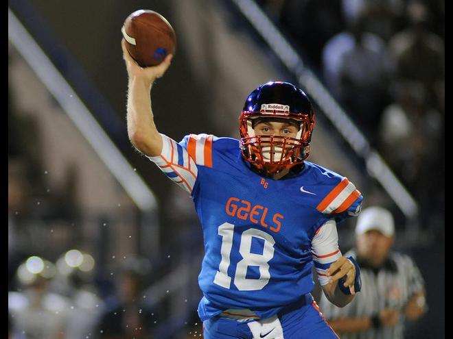 Bishop Gorman quarterback Tate Martell helps lead the Gaels to a state championship and No. 1 ranking in the Super 25 last season as a sophomore. (Photo: Stephen R. Sylvanie, USA TODAY Sports)