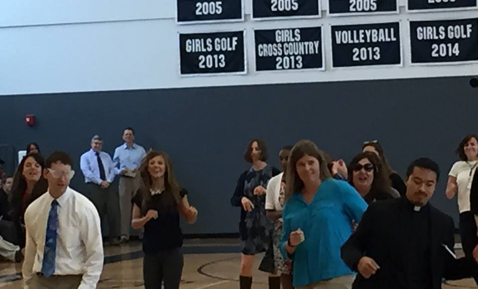 Teachers start the year off with some cardio. Photo by Craig Coovert