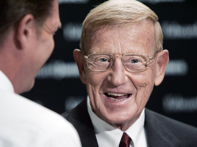 Former USC football coach Lou Holtz to host radio shows. Rob Goebel / Indianapolis Star