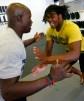 Rashan Gary of Paramus Catholic working with strength trainer Dwayne Riggins (Photo: Noah K. Murray, USA TODAY Sports)
