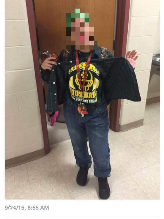 Warren HS students posted pictures online dressed in outfits meant to demean their rival school. (Photo: Twitter)