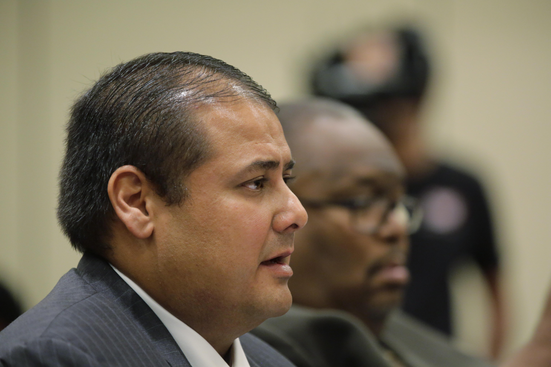 Jay High football coach Gary Gutierrez, left, and principal Robert Harris (Photo: Eric Gay, AP)