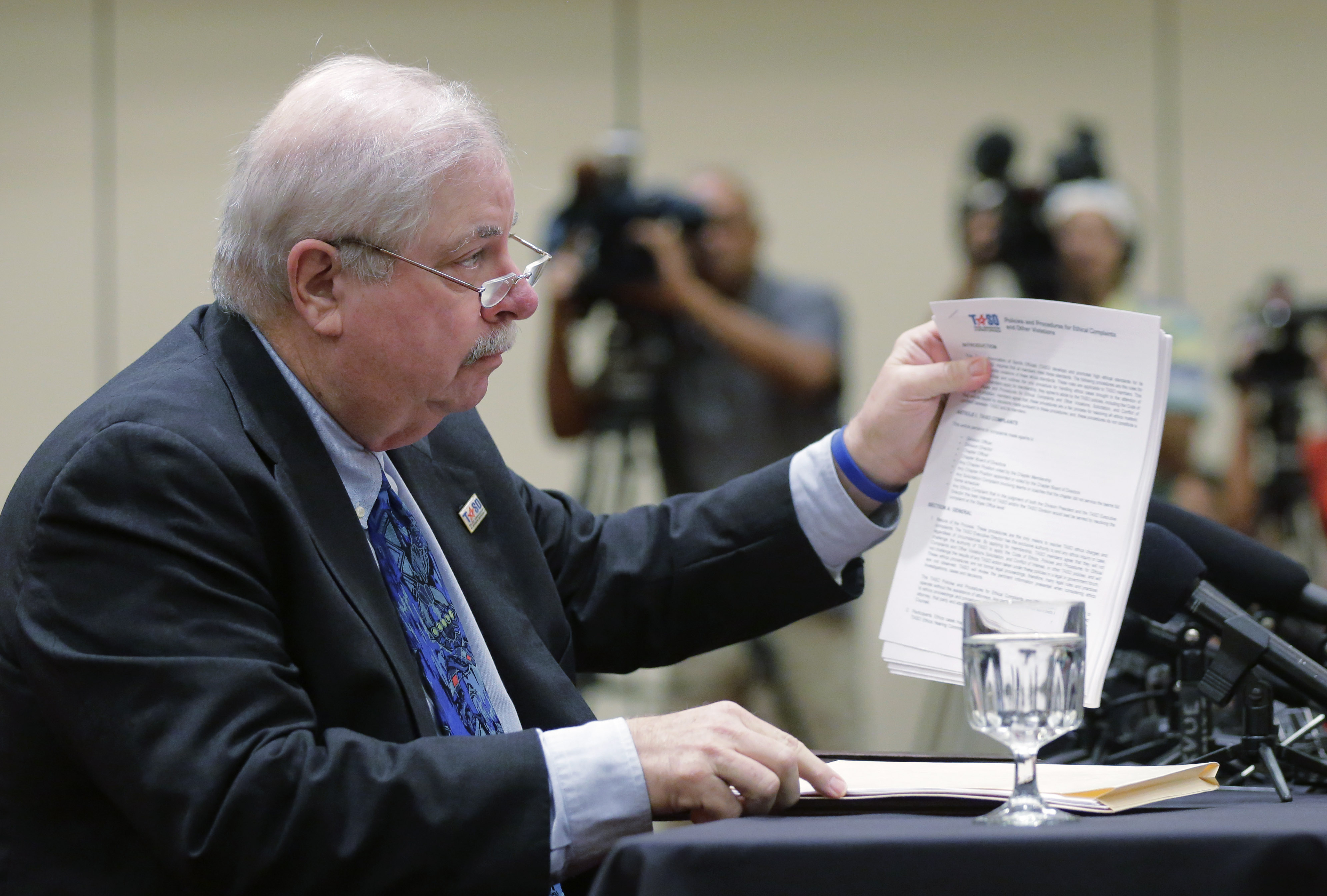 Mike Fitch, Executive Director of the Texas Association of Sports Officials (Photo; Eric Gay, AP)