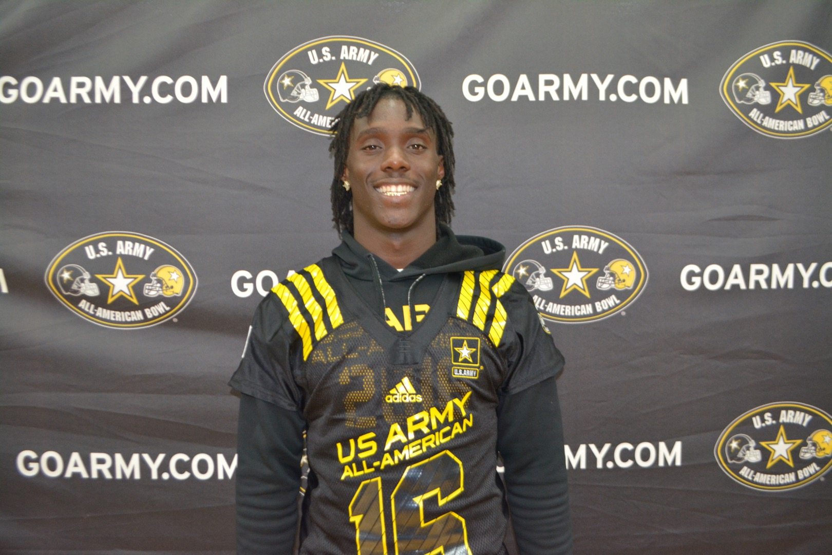 Demario McCall was presented his jersey during the Army All-American Bowl Selection Tour (Photo: Army All-American Bowl)