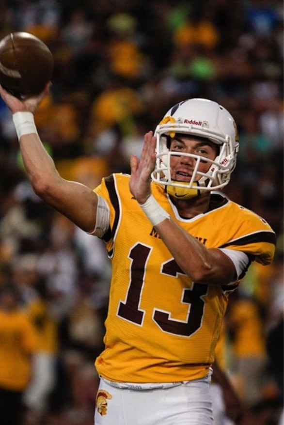 Mililani quarterback McKenzie Milton is on a pace to set a state record for passing yardage. (Photo: Matt Capps).