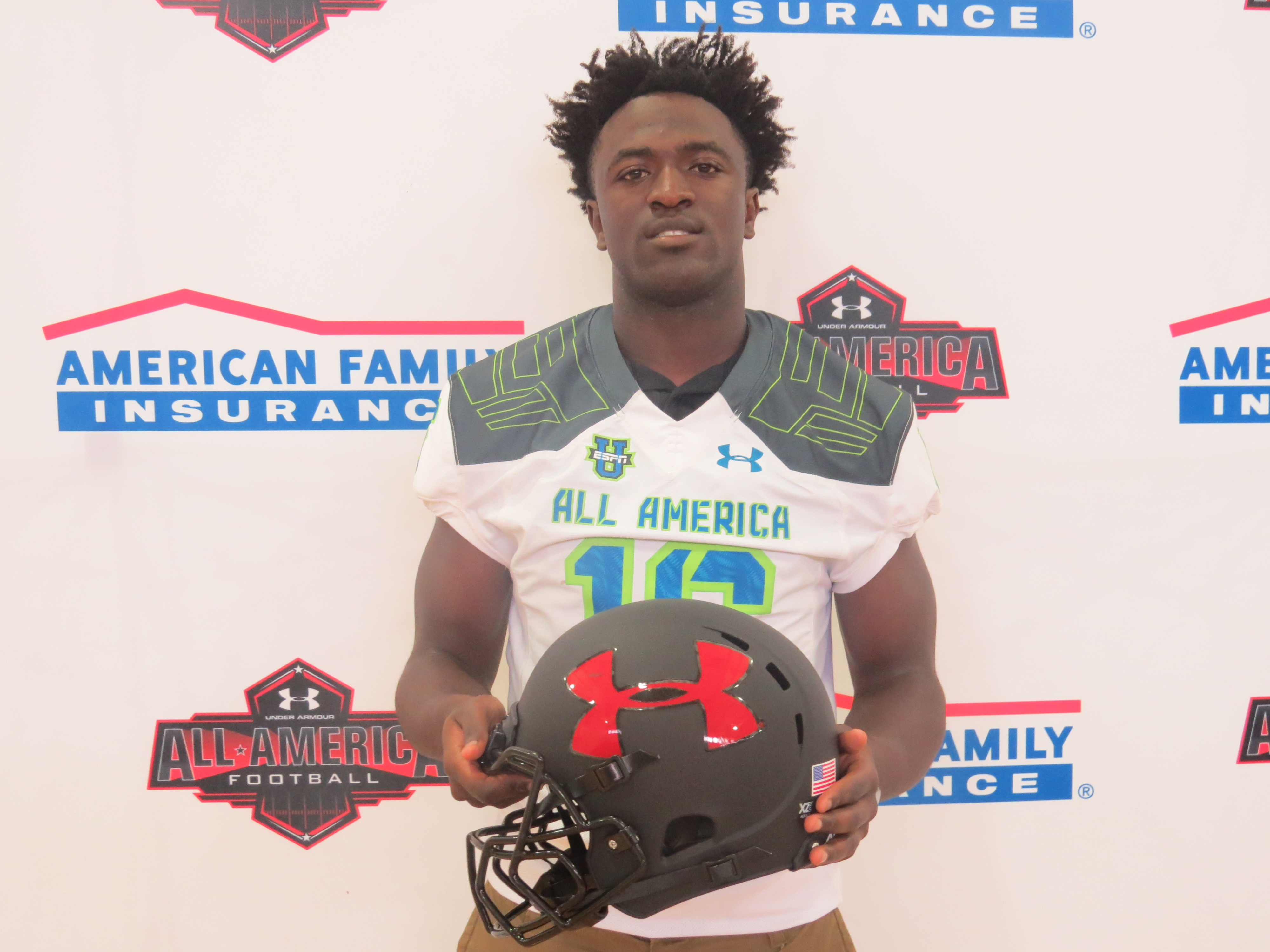Tampa Catholic wide receiver Nate Craig-Myers' go-to move is unstoppable. (Photo: Under Armour All-American Bowl).
