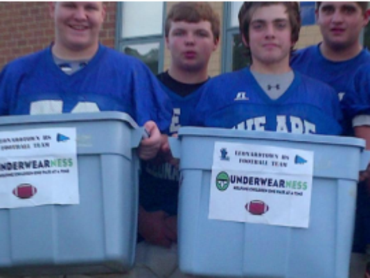 The Leonardtown Raiders have teamed up with Underwearness to help those in need. (Photo: WUSA9)