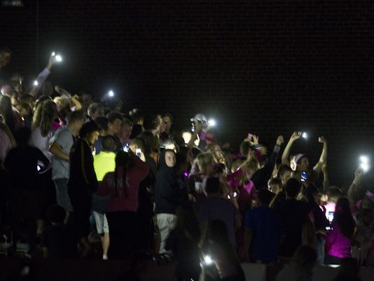 The game was cut short by a power failure in the area, soon after players and fans left the field. Long Branch vs Rumson-Fair Haven football. (Photo: Doug Hood, Staff Photographer)