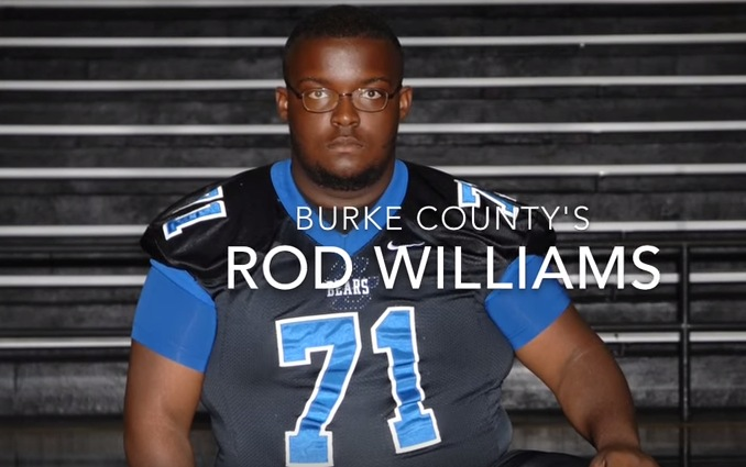 Burke County offensive lineman Rod Williams died Oct. 5, nearly two weeks after he initially collapsed at football practice on Sep. 22 (Photo: YouTube screen shot)