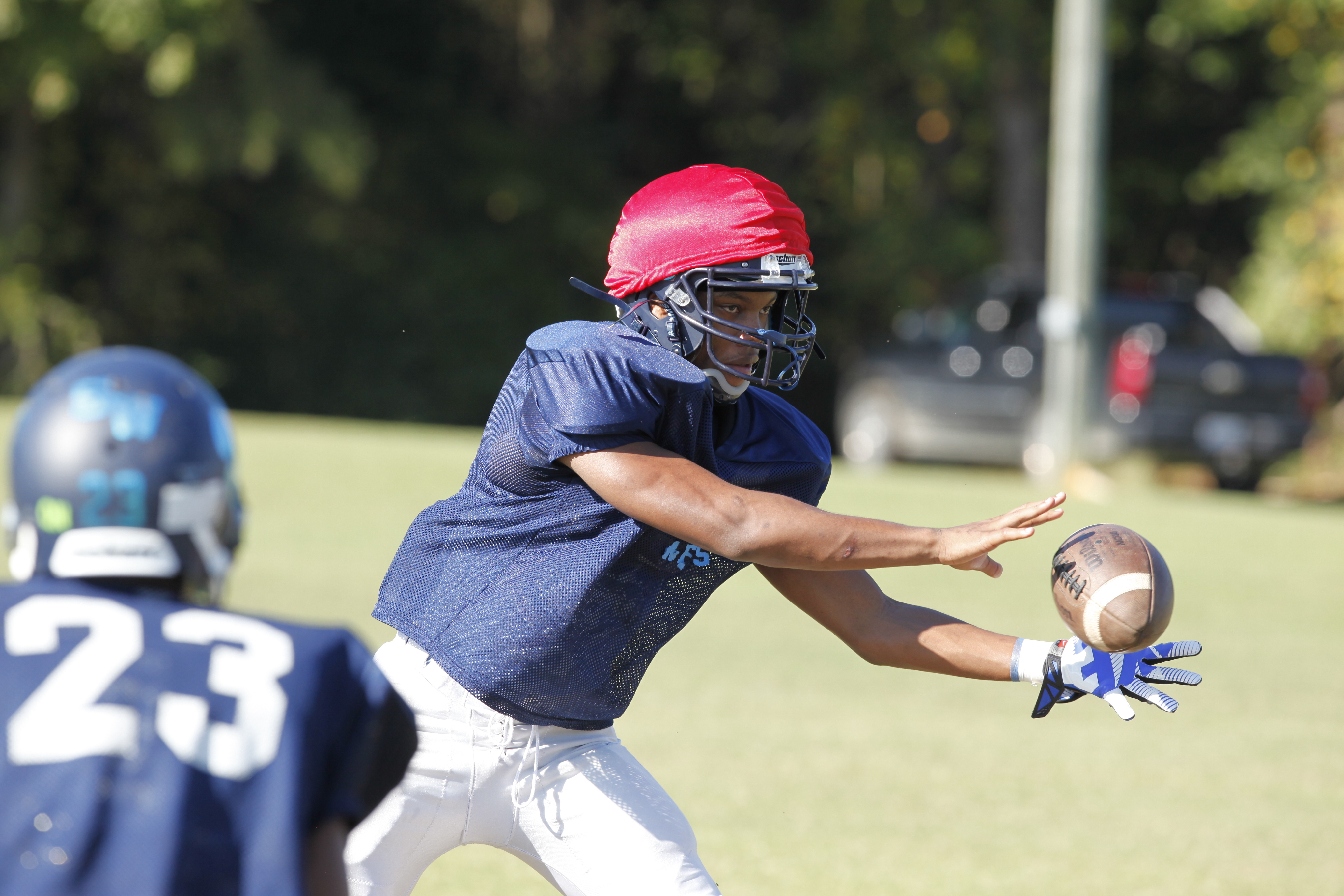 Quontellas Norwood returned to practice this week (Photo: Mark Dolejs, USA TODAY Sports)