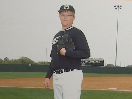 """Noah Syndergaard as a kid, who his parents called """"Bumpy"""" (Photo: Syndergaard family, WFAA)"""